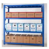 Heavy duty metal wood storage shelving racks / shelving unit / cheap goods shelf