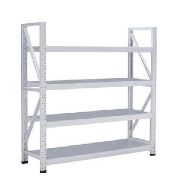Multiple Use bolt Shelving White Display Rack Metal Steel Slotted Angle Shelf #2 image