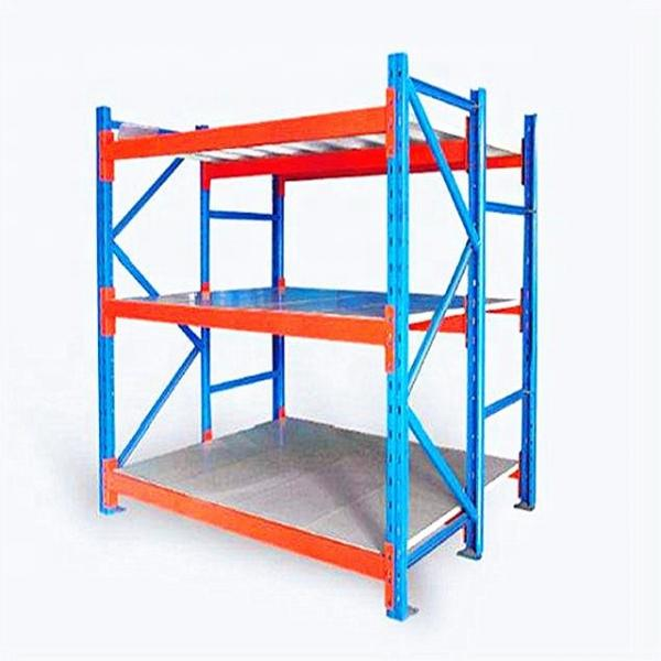 Warehouse steel slotted angle rack/shelving with steel shelving units #3 image