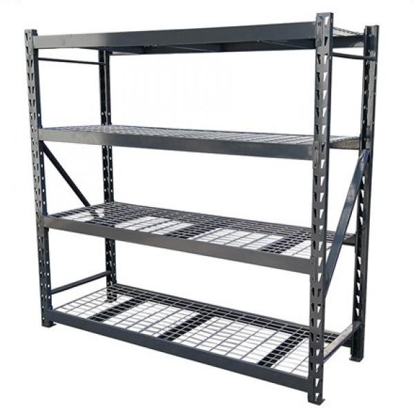 industrial and vintage modern iron and wood bookcase/bookshelf #2 image