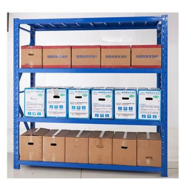 400kg Capacity Wider Ribbed Beam Boltless Rack 4 Shelves Steel Industrial Shelving Unit #2 image